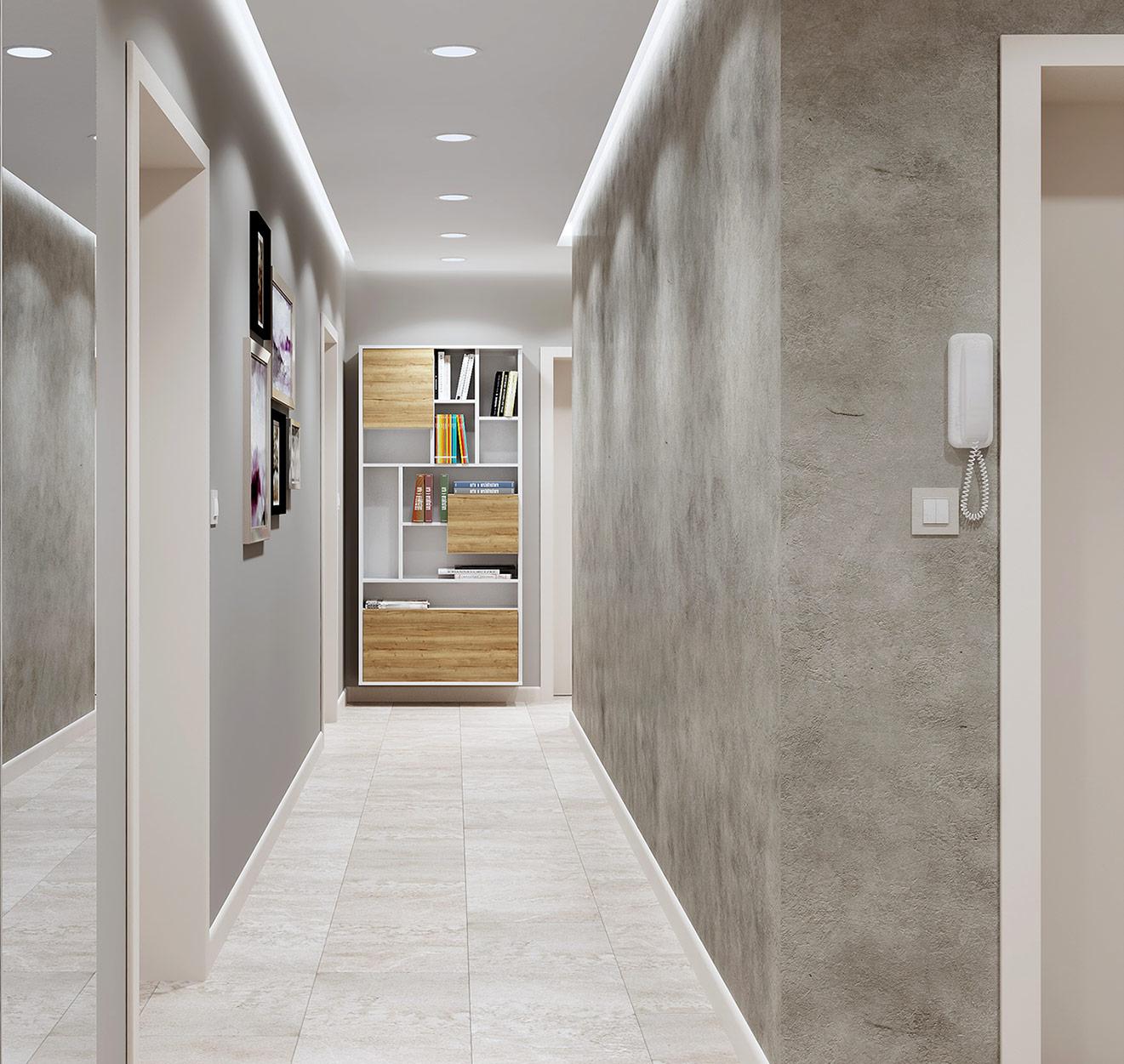 декоративная штукатурка в узком коридоре фото успеете