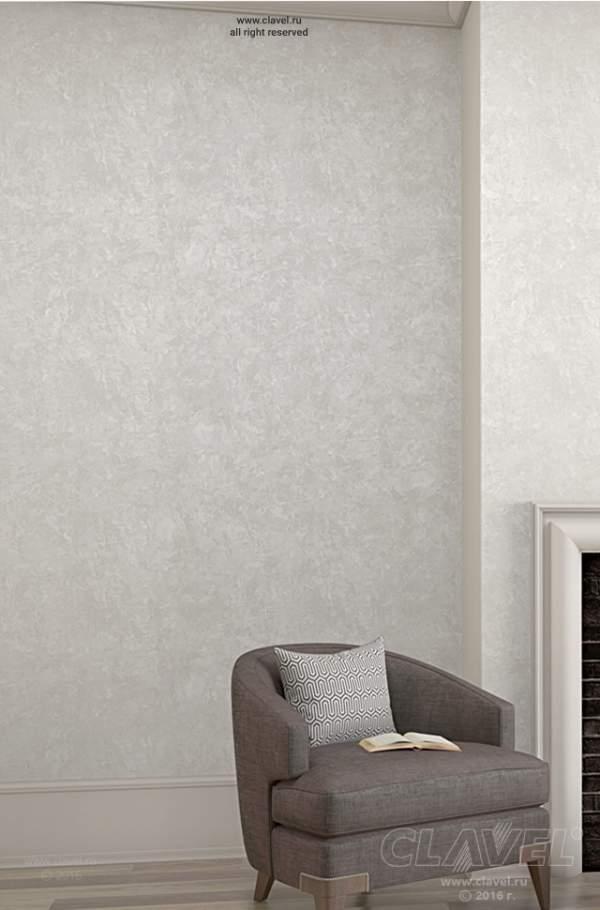 Гостиная. Отделка стен с эффектом мокрого шелка