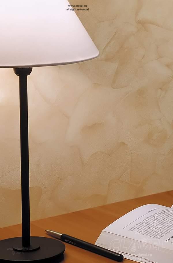 Спальня. Декоративное покрытие с песочным эффектом.