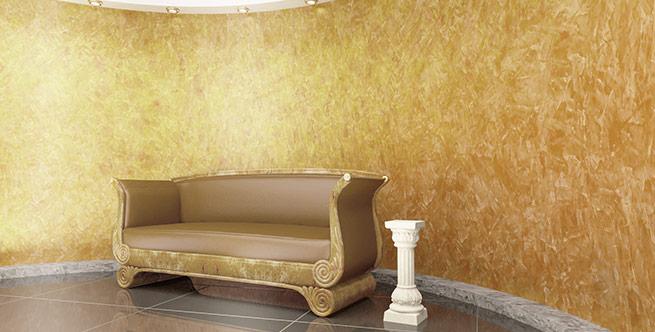 Венецианские штукатурки с эффектом золота