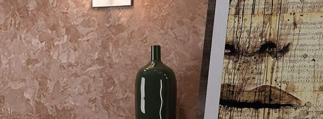 Декоративное покрытие матовый шелк - фото в интерьере. Гостиная