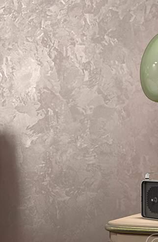 Декоративное покрытие с эффектом мокрого шелка - фото в интерьере. Спальня