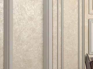 Декоративная краска с эффектом мокрого шелка - фото в интерьере. Гостиная
